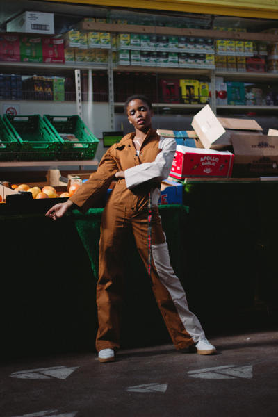 Daily Paper Spring/Summer 2018 Transcends Borders Collection Editorial Chai Tea Cree Jumpsuit Tan Brown