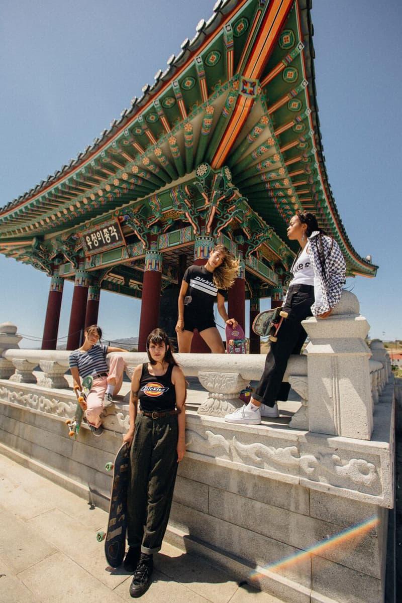 Depop x Dickies Girls Capsule Collection Lookbook Cropped Logo Tee Red