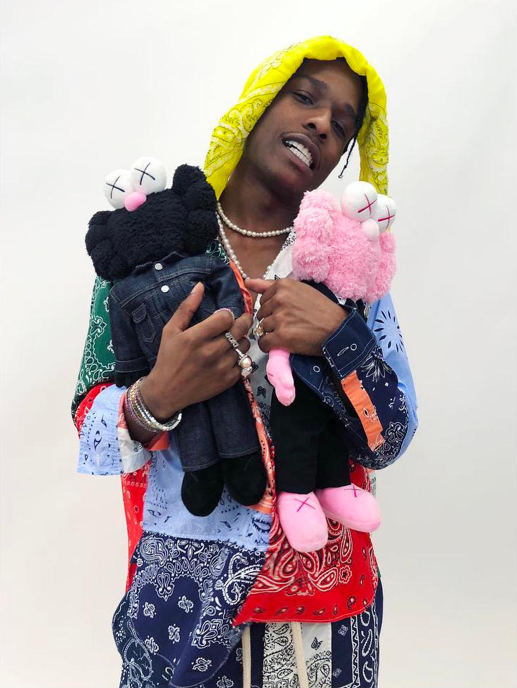Dior Homme Kaws Spring Summer 2019 Collaboration Pink Black BFF Plush Toy A$AP Rocky