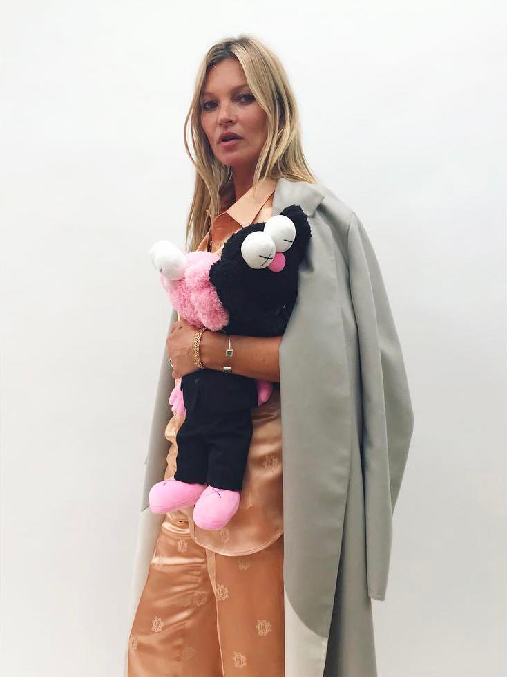 Dior Homme Kaws Spring Summer 2019 Collaboration Pink Black BFF Plush Toy Kate Moss