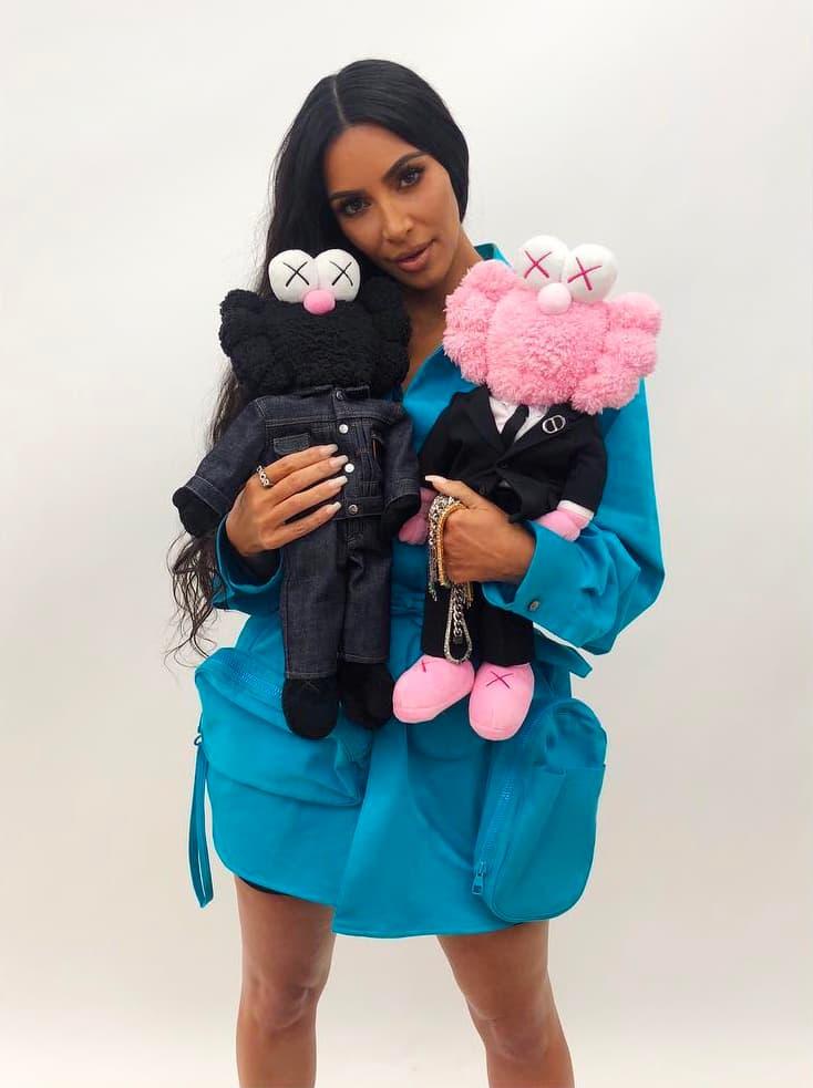 Dior Homme Kaws Spring Summer 2019 Collaboration Pink Black BFF Plush Toy Kim Kardashian