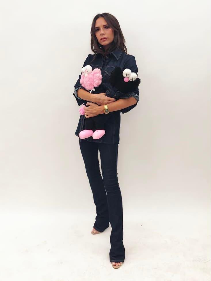 Dior Homme Kaws Spring Summer 2019 Collaboration Pink Black BFF Plush Toy Victoria Beckham