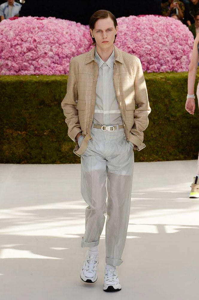 Dior Homme Spring Summer 2019 Runway Show Paris Fashion Week Men's Kim Jones Yoon Ahn Kaws Beige Jacket Matthew Williams Alyx