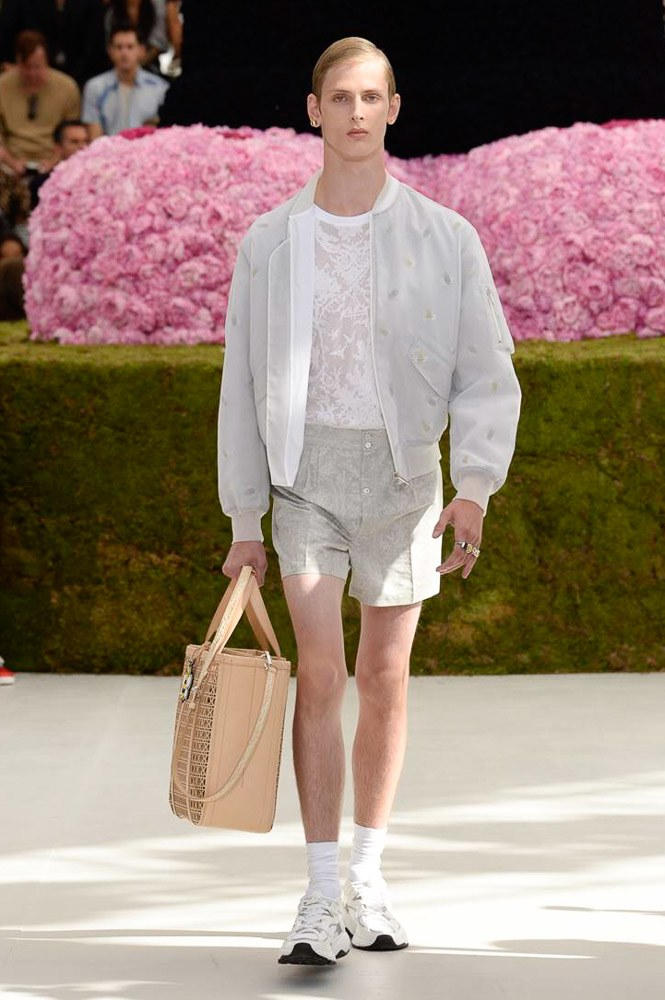 Dior Homme Spring Summer 2019 Runway Show Paris Fashion Week Men's Kim Jones Yoon Ahn Kaws Beige Bag