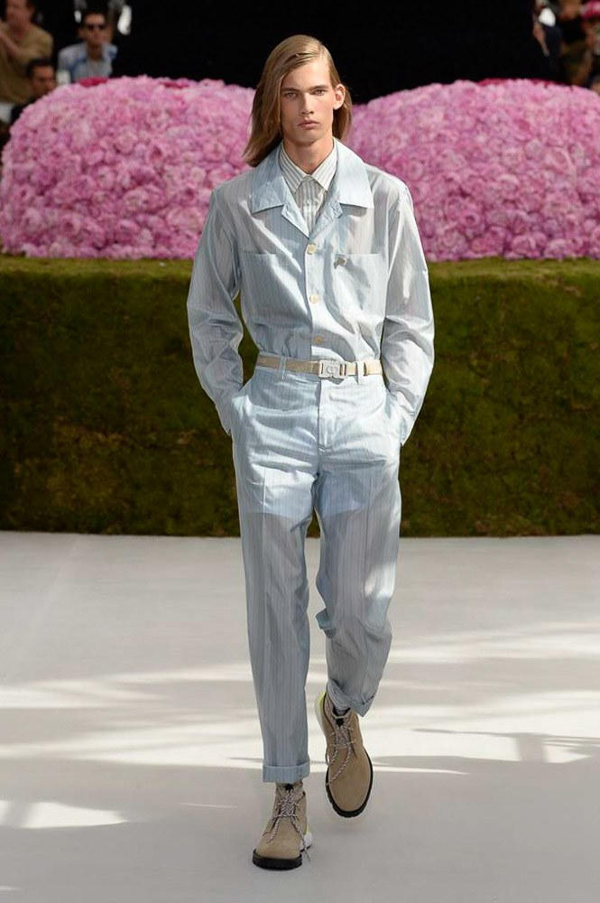 Dior Homme Spring Summer 2019 Runway Show Paris Fashion Week Men's Kim Jones Yoon Ahn Kaws Coveralls Matthew Williams Alyx