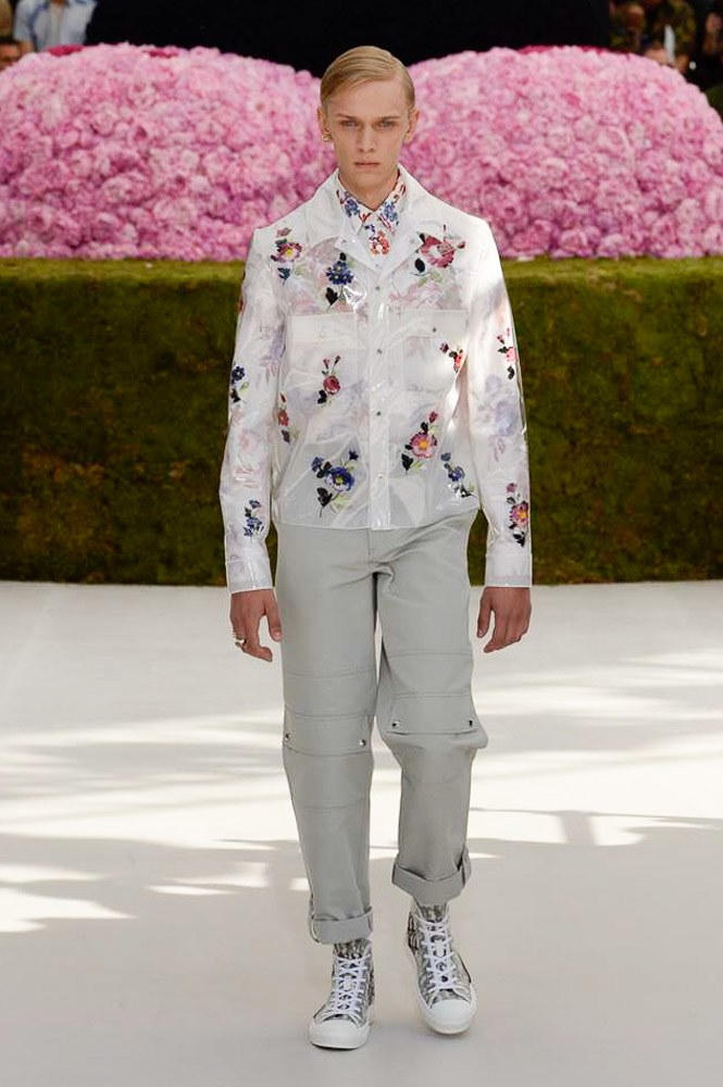 Dior Homme Spring Summer 2019 Runway Show Paris Fashion Week Men's Kim Jones Yoon Ahn Kaws Floral Shirt