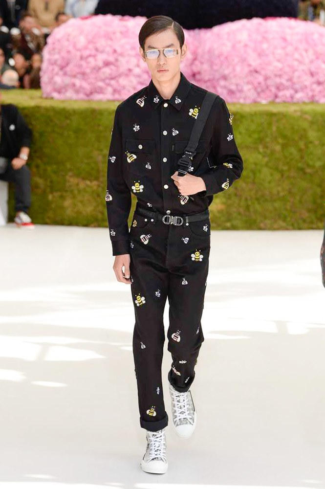 Dior Homme Spring Summer 2019 Runway Show Paris Fashion Week Men's Kim Jones Yoon Ahn Kaws Bee
