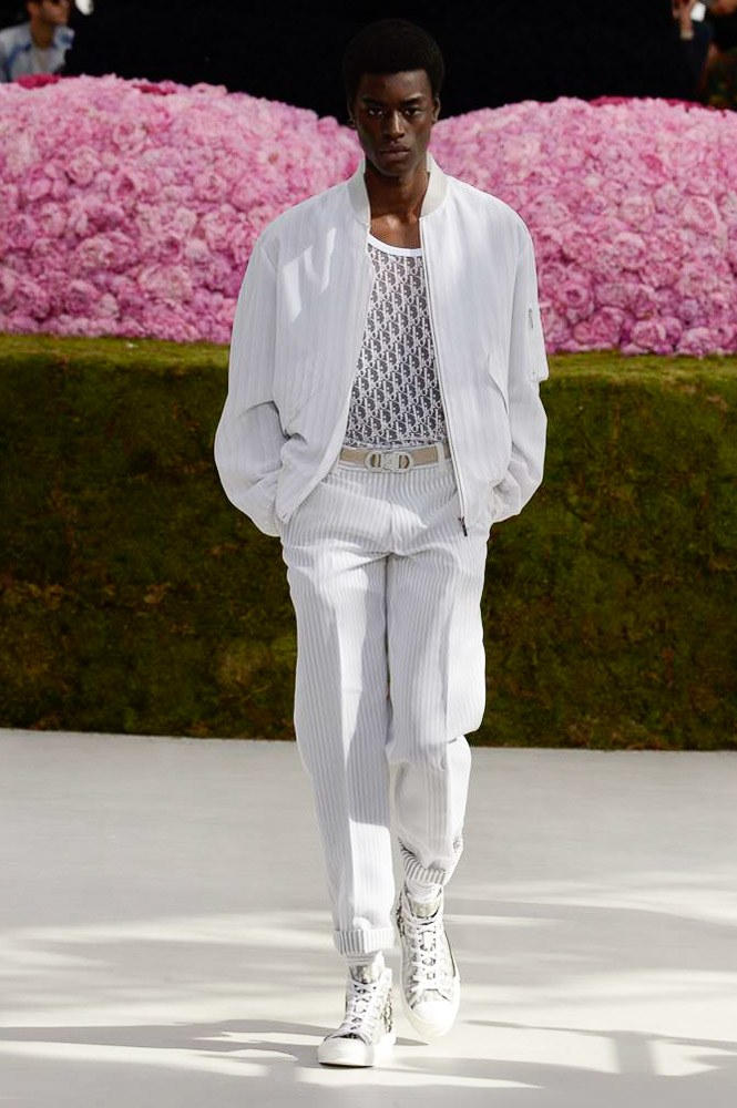 Dior Homme Spring Summer 2019 Runway Show Paris Fashion Week Men's Kim Jones Yoon Ahn Kaws Logo See Through Shirt