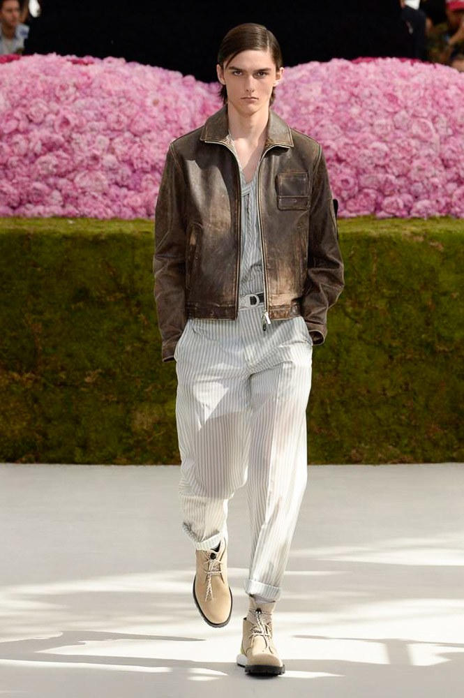 Dior Homme Spring Summer 2019 Runway Show Paris Fashion Week Men's Kim Jones Yoon Ahn Kaws Brown Jacket