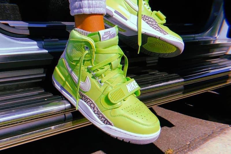 First Look Just Don x Jordan Legacy 312 Ghost Green Basketball Kid Cudi
