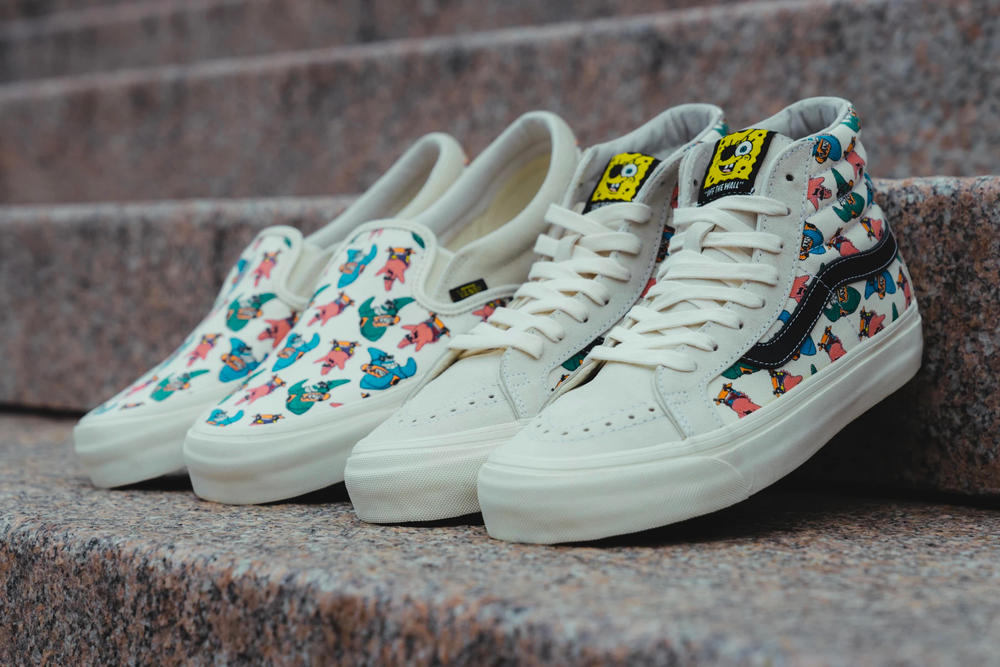 Spongebob Squarepants Vans Collaboration Sk8-Hi Slip-On Sneakers
