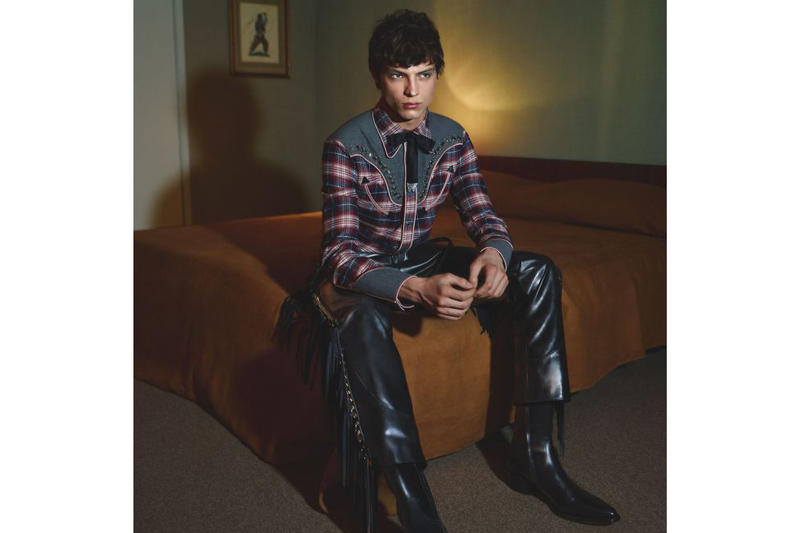 DSquared 2 Fall/Winter 2018 Campaign Plaid Shirt Blue Red