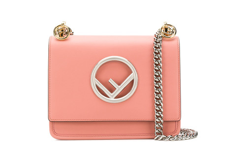 b4b65fd7d005 Fendi s Kan Logo Shoulder Bag Gets a Pink Makeover