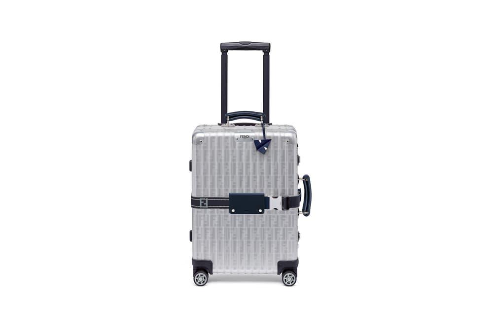 RIMOWA x Fendi Collaboration Aluminum Suitcase Blue