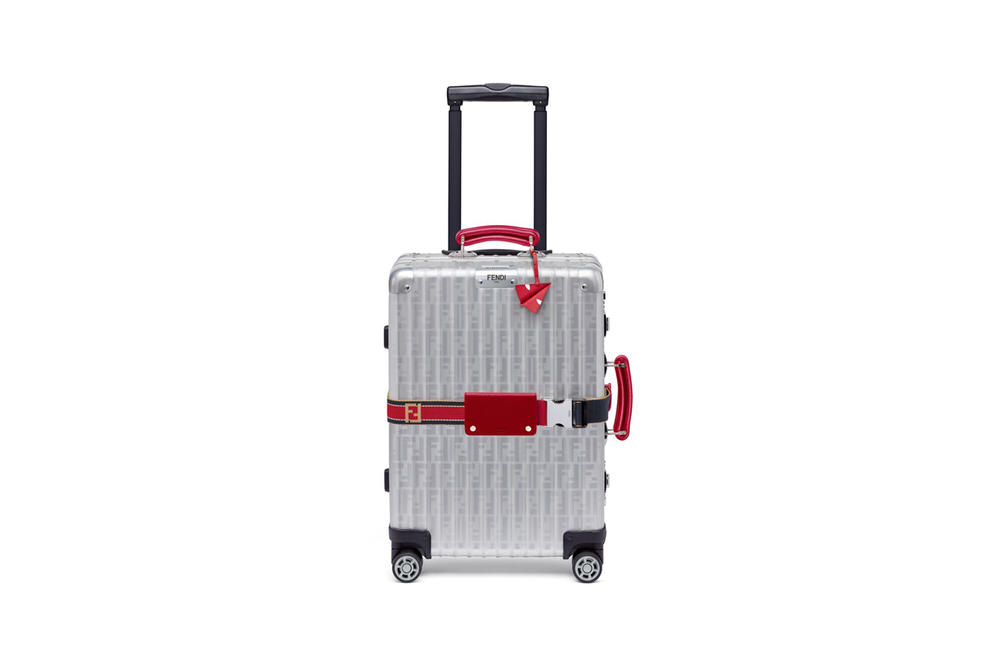RIMOWA x Fendi Collaboration Aluminum Suitcase Red