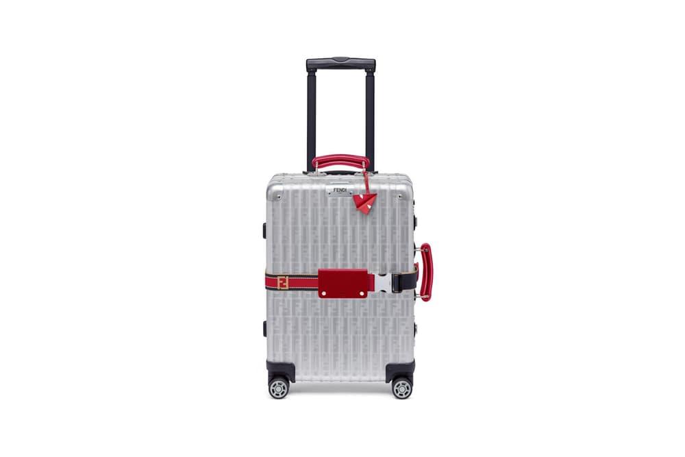 RIMOWA x Fendi Collaboration Aluminum Suitcase Red