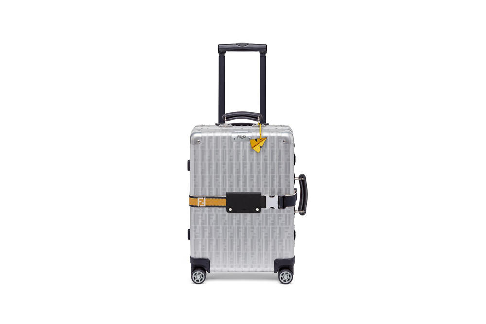 RIMOWA x Fendi Collaboration Aluminum Suitcase Yellow