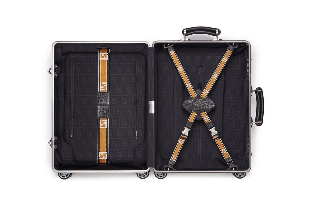 RIMOWA x Fendi Collaboration Aluminum Suitcase Yellow