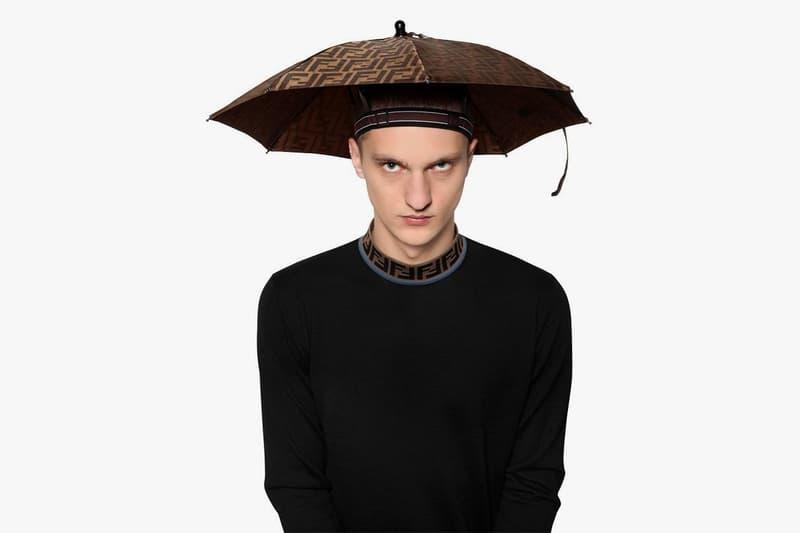 Where to Buy Fendi Logo Print Umbrella Hat Monogram Zucca Karl Largerfeld
