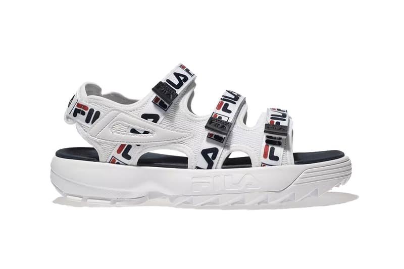 42b8eede83 FILA Drops Logo Disruptor 2 Chunky Sandals | HYPEBAE