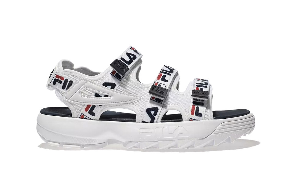 a73a00555c03 FILA s Logo Disruptor Sandals Are Ticking All the Trends This Season