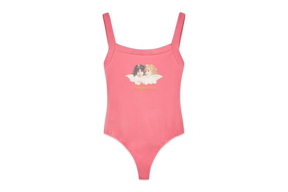 Fiorucci Retro Angel Bodysuit Pink Pastel Blue Black
