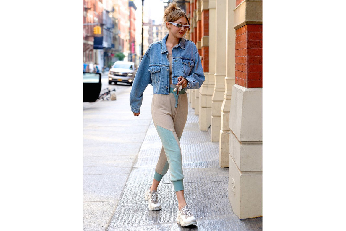 clearance sale unique design so cheap Gigi Hadid in Affordable Dad Sneakers White | HYPEBAE