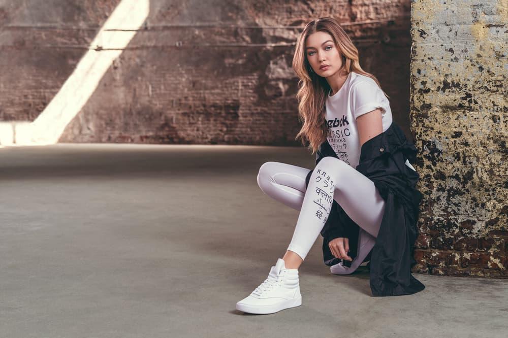 Gigi Hadid Reebok Classic Freestyle Hi Nova White