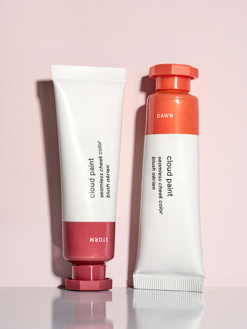 Glossier Cloud Paint Blush Shades Dawn Storm Makeup Emily Weiss