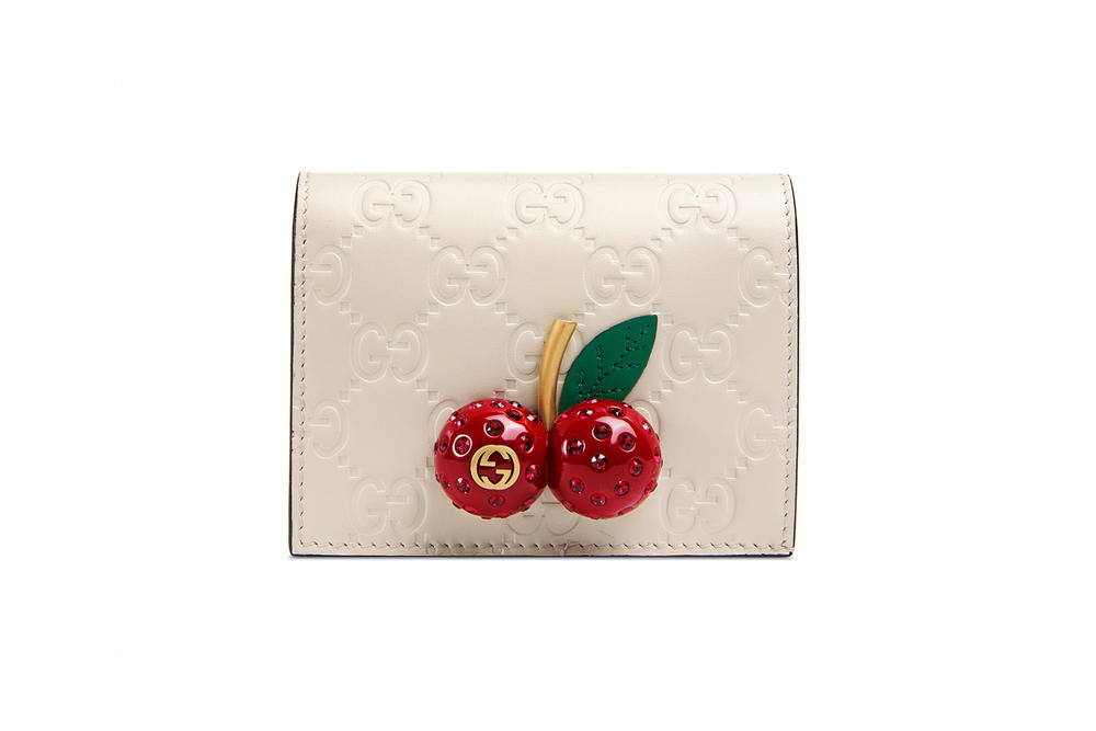 Gucci Signature card case with cherries