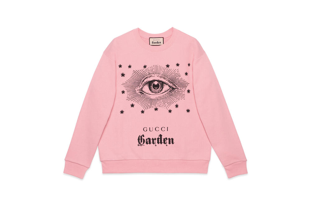Gucci Garden Capsule Collection Eye Sweatshirt Pink