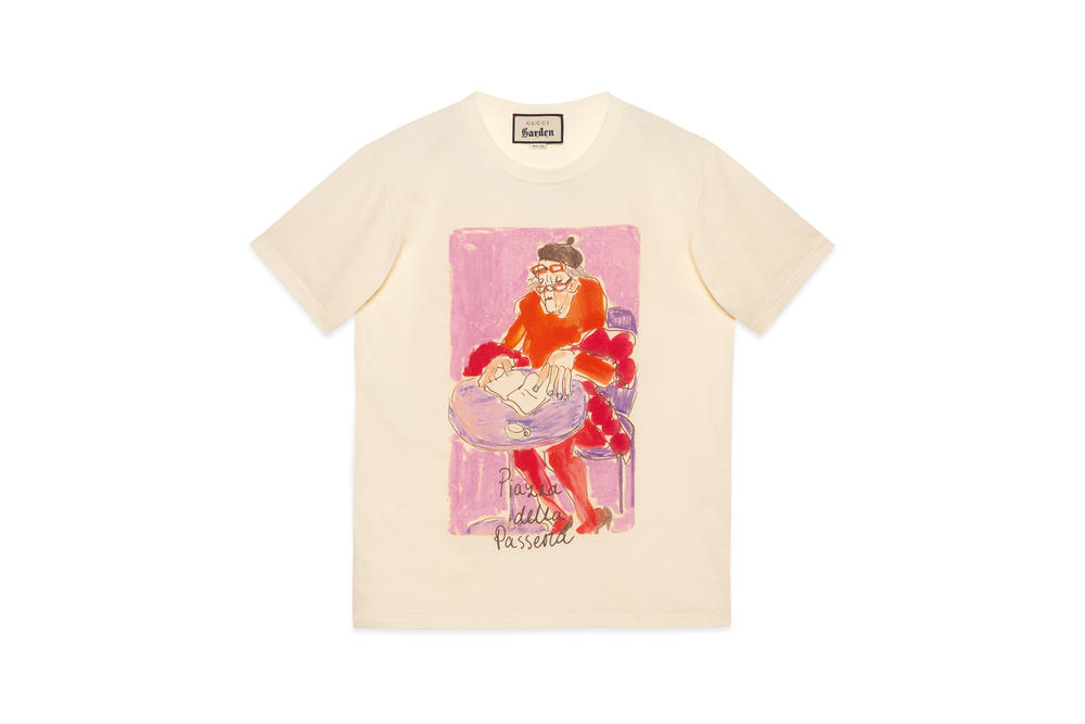 Gucci Garden Capsule Collection Isabella Cotier T-shirt Cream