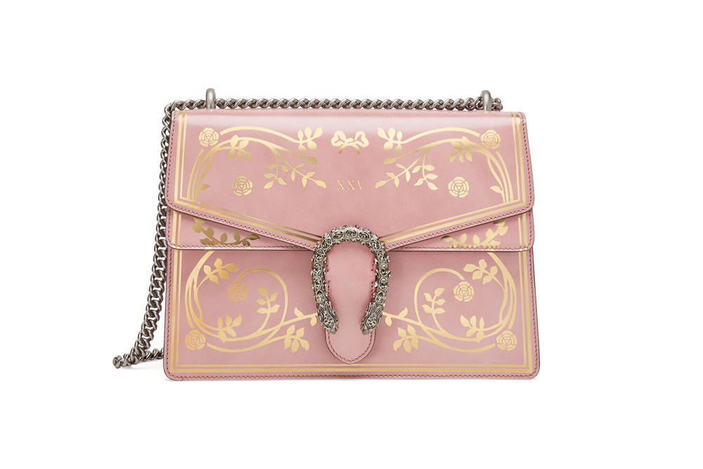 Gucci Garden Capsule Collection Dionysus Shoulder Bag Pink
