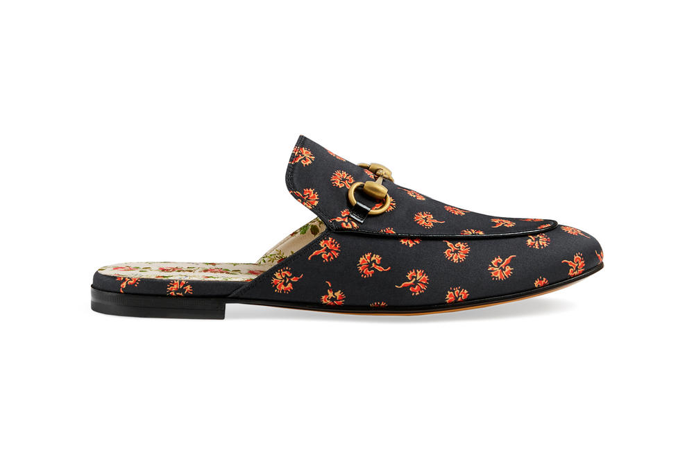 Gucci Garden Capsule Collection Princetown Slipper Black Red