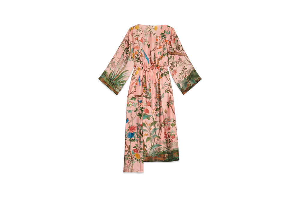 Gucci Garden Capsule Collection Floral Pyjama Robe Pink Green