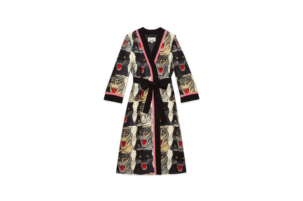 Gucci Garden Capsule Collection Cat Robe Black Pink