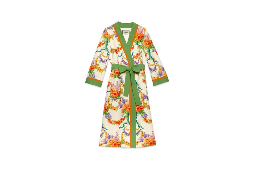 Gucci Garden Capsule Collection Floral Pyjama Robe Green White Orange