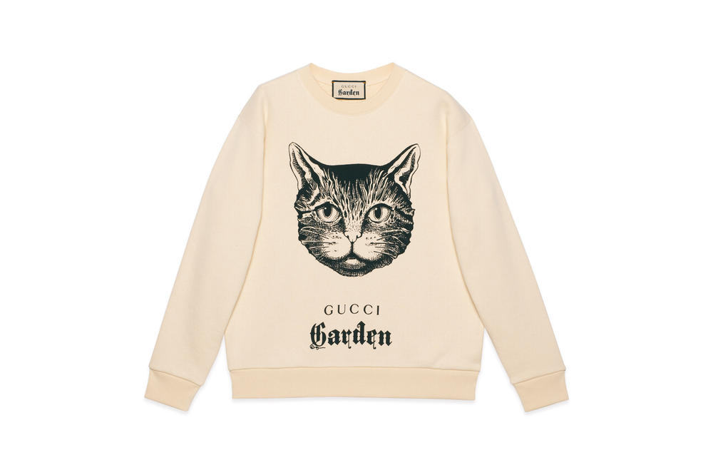 Gucci Garden Capsule Collection Cat Sweatshirt Cream