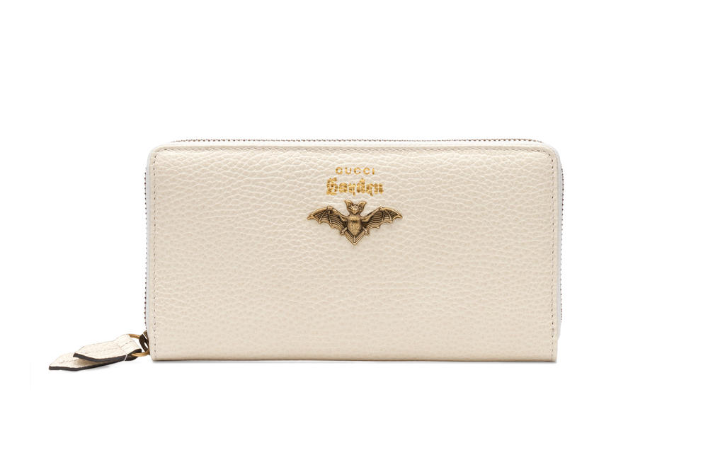 Gucci Garden Capsule Collection Leather Bat Wallet Cream