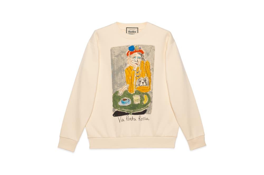 Gucci Garden Capsule Collection Isabella Cotier Sweatshirt Cream