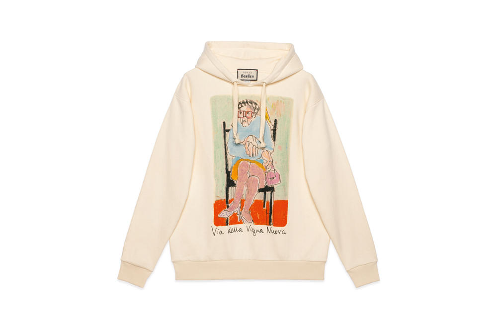 ac63a8066cd Gucci Garden Capsule Collection Isabella Cotier Hoodie Cream
