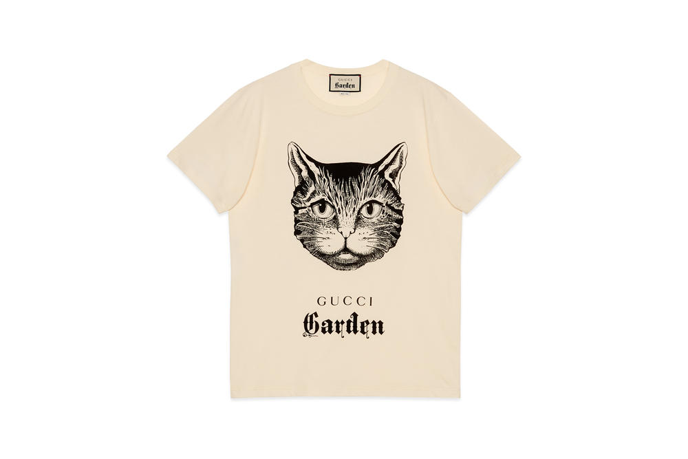 Gucci Garden Capsule Collection Cat T-shirt Cream