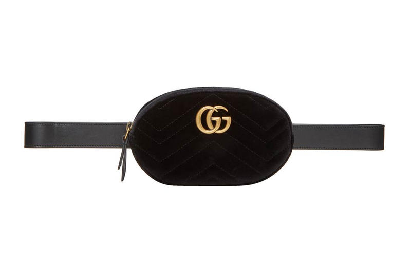 Gucci GG Marmont 2.0 Belt Bag Pouch Black Velvet