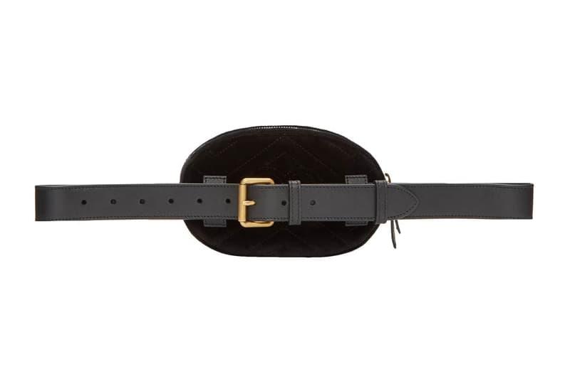 Gucci GG Marmont 2.0 Belt Bag Pouch Black Velvet