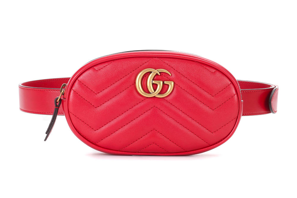 Gucci GG Marmont Leather Belt Bag Red Alessandro Michele Fanny Pack