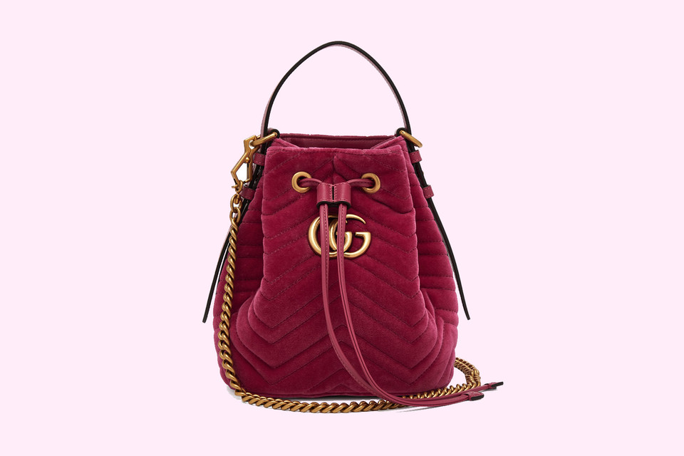 bdb0e87a32a5 Where to Buy Gucci GG Marmont Bucket Bag in Pink | HYPEBAE
