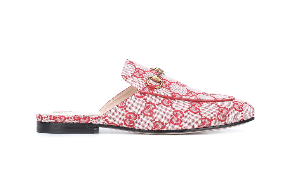 Gucci GG Princetown Slippers Red Monogram Print