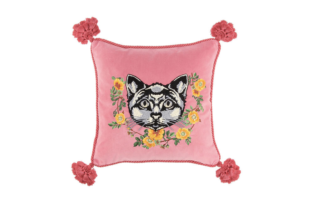 Gucci Homeware Collection Candle Cushion Chair Table Tray Incense Burner Wallpaper