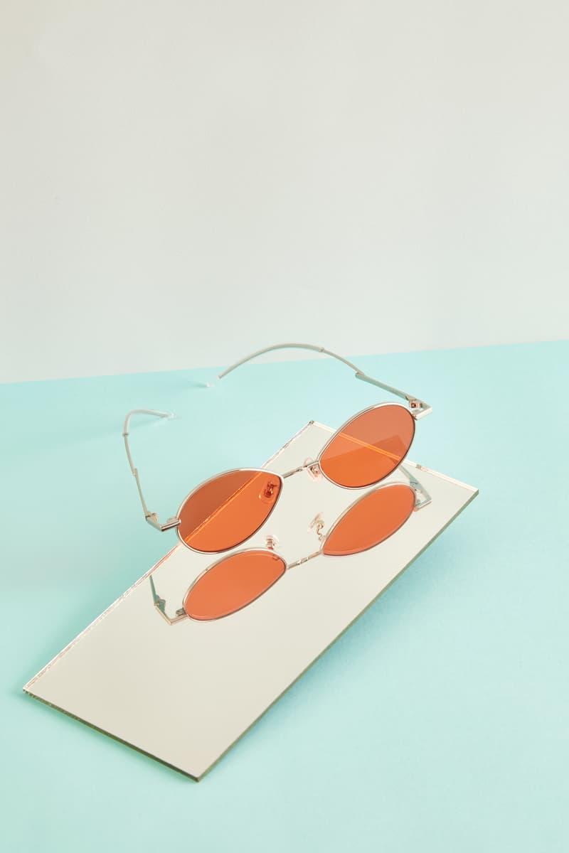 Gentler Monster Oval Sunglasses Orange Black Editorial HBX