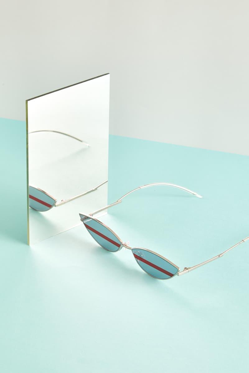 Gentler Monster Oval Sunglasses Blue Editorial HBX